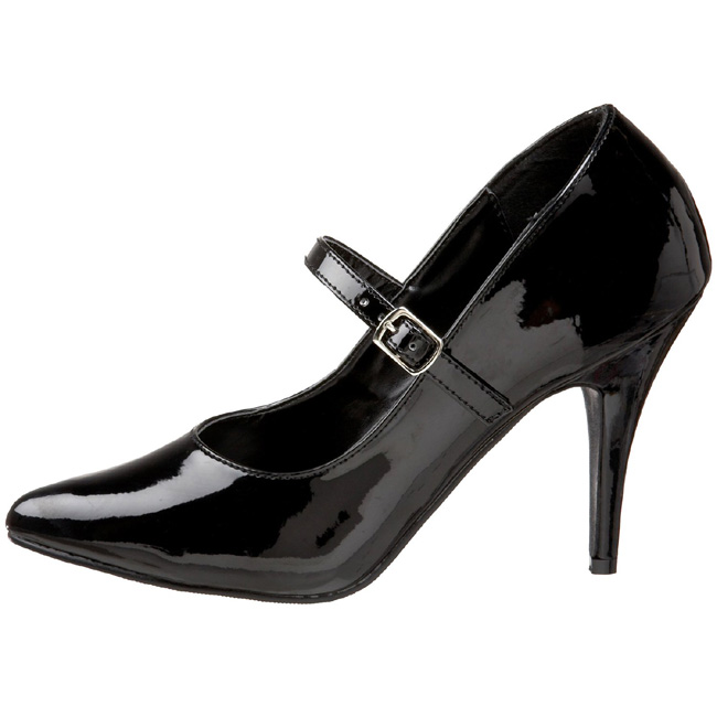 Black Shiny 10,5 cm VANITY-440 High Heel Pumps for Men