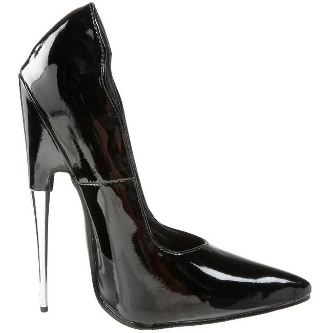 zwart lak 15 cm scream 01 fetish hoge pumps schoenen. Black Bedroom Furniture Sets. Home Design Ideas