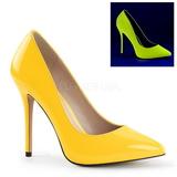 Geel Neon 13 cm AMUSE-20 Pumps Schoenen met Naaldhakken