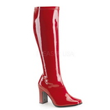Lak 9,5 cm KIKI-350 Rode laklaarzen dames van FUNTASMA