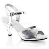 Zilver Mat 8 cm BELLE-309 Dames Sandalen met Hak