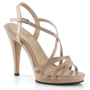 Beige 11,5 cm FLAIR-413 Fabulicious High Heeled Sandal