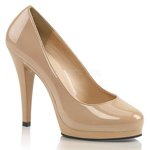 Beige 11,5 cm FLAIR-480 Womens Shoes with High Heels