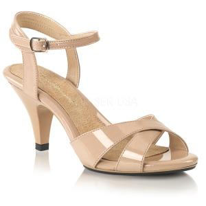 Beige 8 cm Fabulicious BELLE-315 sandalen met naaldhak