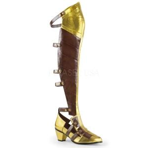 Black Matte 6,5 cm MAIDEN-8830 Cosplay Overknee Boots
