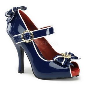 Blauw 11,5 cm ANCHOR-22 damesschoenen met hoge hak