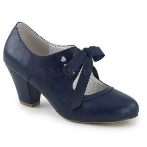 Blauw 6,5 cm WIGGLE-32 Pinup pumps schoenen met blokhak