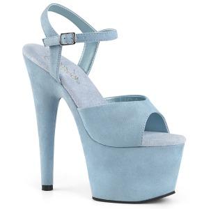 Blauw Kunstleer 18 cm ADORE-709FS sandalen met naaldhak