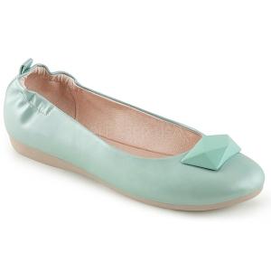 Blauw OLIVE-08 ballerinas platte damesschoenen