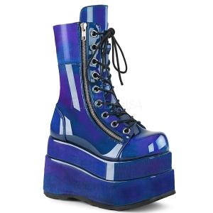 Blue Patent 11,5 cm BEAR-265 demonia ankle boots platform