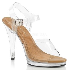 Bruin 11,5 cm FLAIR-408 high heels schoenen voor travestie