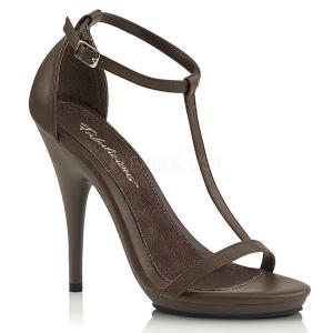 Bruin 12,5 cm Fabulicious POISE-526 sandalen met naaldhak