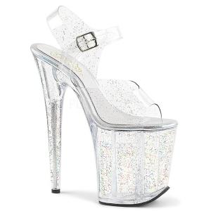 Doorzichtig 20 cm Pleaser FLAMINGO-808MMG glitter schoenen met hakken