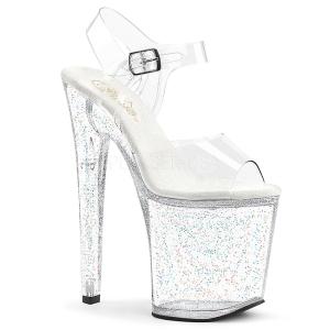 Doorzichtig 20 cm Pleaser XTREME-808MG glitter schoenen met hakken
