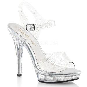 Glitter 13 cm Fabulicious LIP-108MMG sandalen met naaldhak