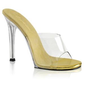 Goud 11,5 cm FABULICIOUS GALA-01 dames slippers met hak