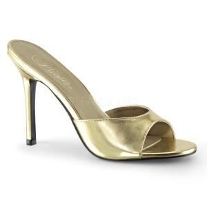 Goud Kunstleer 10 cm CLASSIQUE-01 grote maten mules schoenen