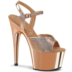 Goud chroom plateau 18 cm ADORE-709 pleaser high heels