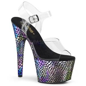 Grijs 18 cm ADORE-708SP Hologram plateau schoenen dames met hak