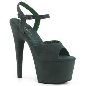 Groen Kunstleer 18 cm ADORE-709FS sandalen met naaldhak