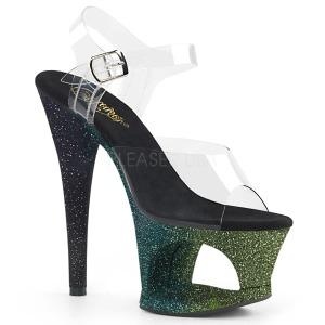 Groen glitter 18 cm Pleaser MOON-708OMBRE paaldans schoenen met hoge hakken