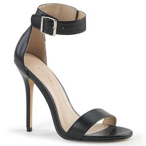 Kunstleer 13 cm AMUSE-10 high heels schoenen voor travestie