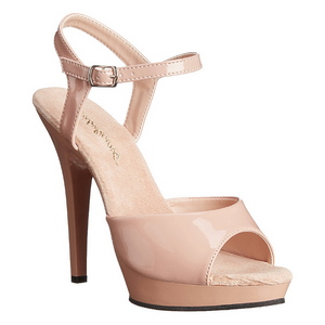 Lak 13 cm Fabulicious LIP-109 Beige plateau high heels