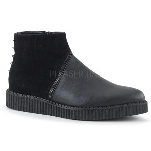 Leatherette 3 cm V-CREEPER-750 Mens Creepers Ankle Boots