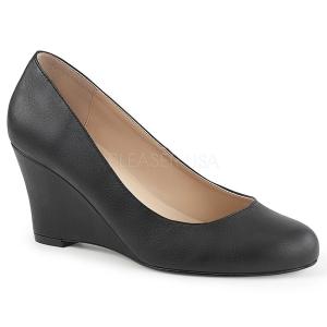 Leatherette 7,5 cm KIMBERLY-08 big size pumps shoes