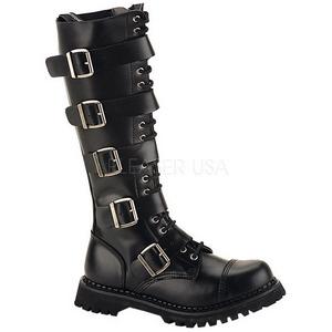 Leder RIOT-20 Punk Laarzen Mannen Gothic Laarzen