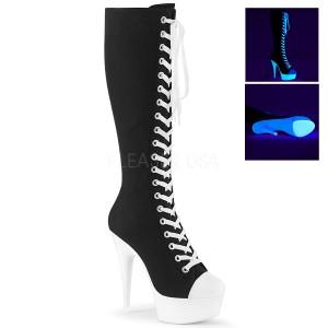 Neon 15 cm DELIGHT-2000SK canvas laarzen met hoge hakken