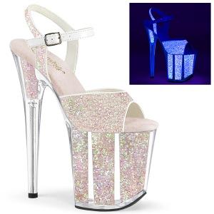 Neon glitter 20 cm FLAMINGO-810UVG paaldans schoenen met hoge hakken
