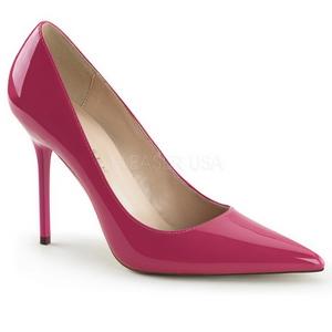 Pink Lak 10 cm CLASSIQUE-20 naaldhak pumps met puntneus