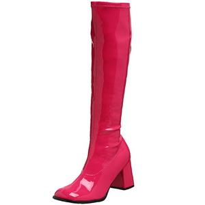 Pink Lak 7,5 cm Funtasma GOGO-300 Dames Laarzen