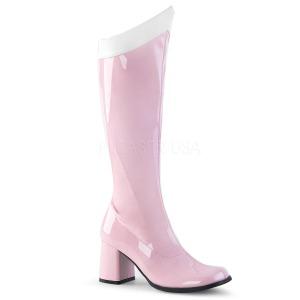 Pink Lak 7,5 cm Funtasma GOGO-306 Dames Laarzen