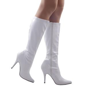 Pleaser 13 cm SEDUCE-2000 Lak Witte Laarzen met hoge hakken