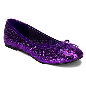 Purper glitter STAR-16G dames ballerinas schoenen