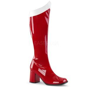 Red Patent 7,5 cm Funtasma GOGO-306 Women Knee Boots