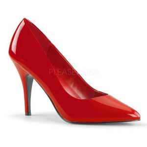Red Shiny 10 cm VANITY-420 Pumps High Heels for Men