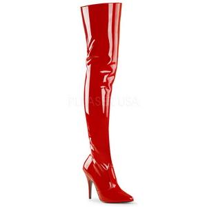 Red Shiny 13 cm SEDUCE-3010 overknee high heel boots