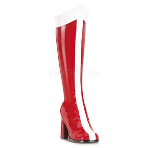 Red White 7,5 cm GOGO-305 Women Knee High Boots