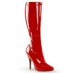 Rood Lak 13 cm SEDUCE-2000 Dameslaarzen met hak voor Heren