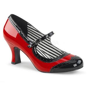 Rood Lakleer 7,5 cm JENNA-06 grote maten pumps schoenen