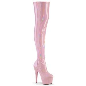 Rosa 18 cm ADORE-3000HWR Hologram pole dance overknee laarzen met hak