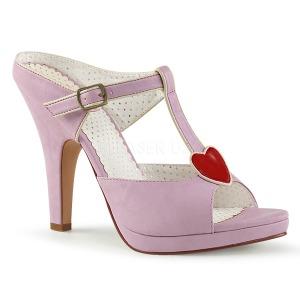 Roze 10 cm retro vintage SIREN-09 Hoge Dames Slippers