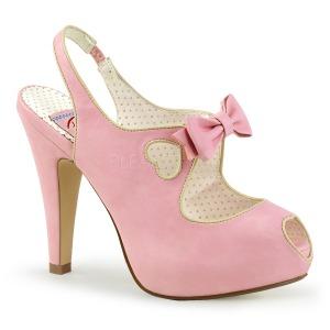 Roze 11,5 cm BETTIE-03 Pinup pumps schoenen met verborgen plateauzool