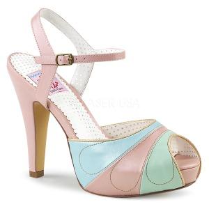 Roze 11,5 cm BETTIE-27 Pinup sandalen met verborgen plateauzool