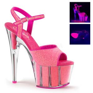 Roze 18 cm ADORE-709G Glitter Plateau Hoge Hakken