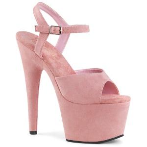 Roze Kunstleer 18 cm ADORE-709FS sandalen met naaldhak