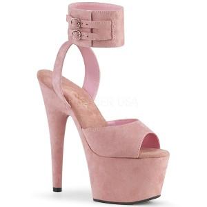 Roze Kunstleer 18 cm ADORE-791FS pleaser hoge hakken met brede enkelband